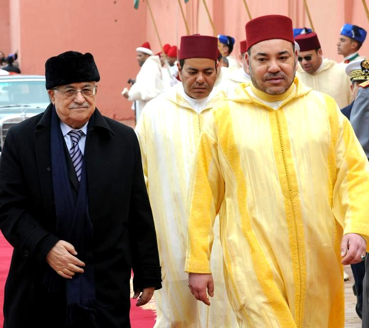Morocco's King Mohammed VI (right) and Palestinian President Mahmoud Abbas. Photo: MAP