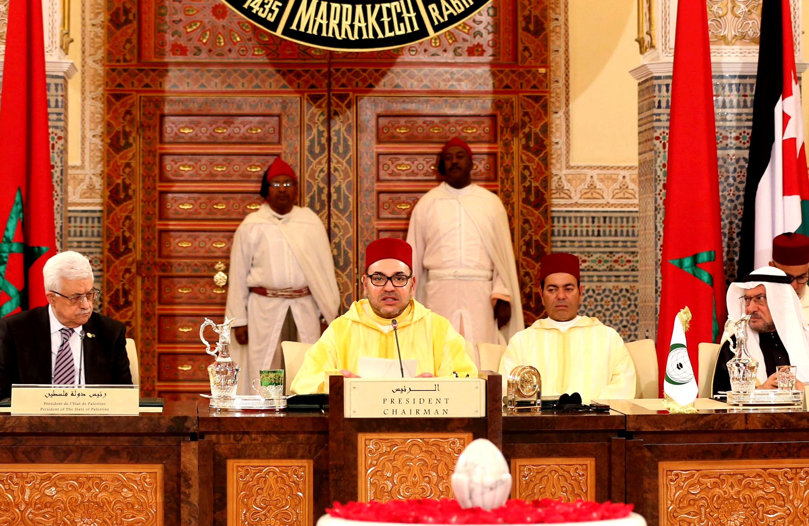 """Our meeting today sends out a message to the world, saying that we are a nation committed to peace and to the alliance of civilizations and cultures,"" said King Mohammed VI, Chairman of Al-Quds Committee, at closing session in Marrakech.  Photo: MAP"