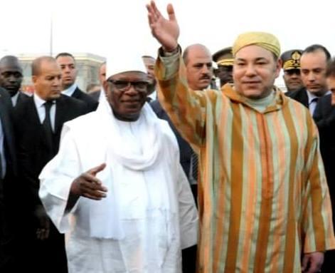 Morocco's King Mohammed VI in Mali with President Ibrahim Boubacar Keita. Photo: MAP