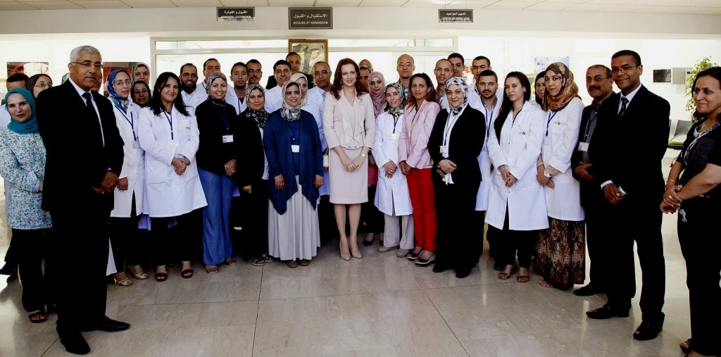 Morocco's Princess Lalla Salma, President of the Lalla Salma Foundation for Cancer Prevention and Treatment,  presides over the inauguration of a new regional oncology center that will serve Moroccans in the Meknes-Tafilalet region. Photo: MAP