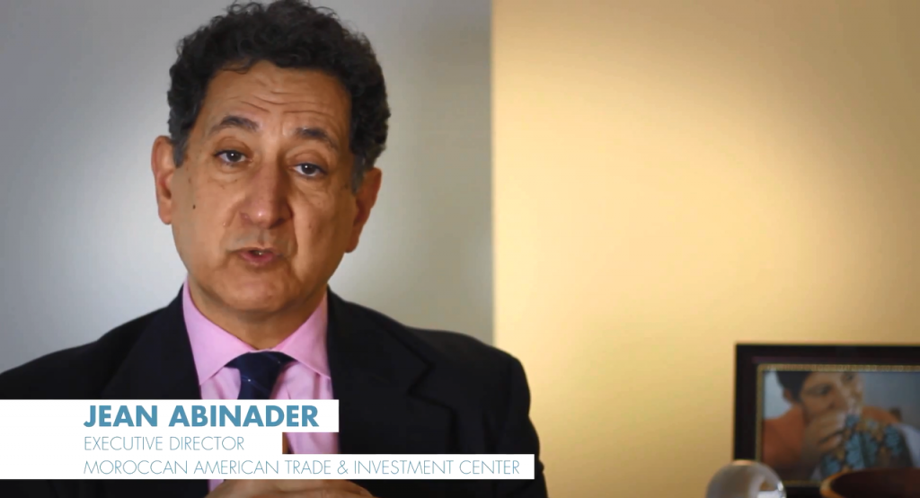 "Jean R. AbiNader, Executive Director of the Moroccan American Trade & Investment Center, is one of the experts featured in a new video, "" ""Changing Perceptions: Addressing Misperceptions of Investing in Africa"" by The Initiative for Global Development."