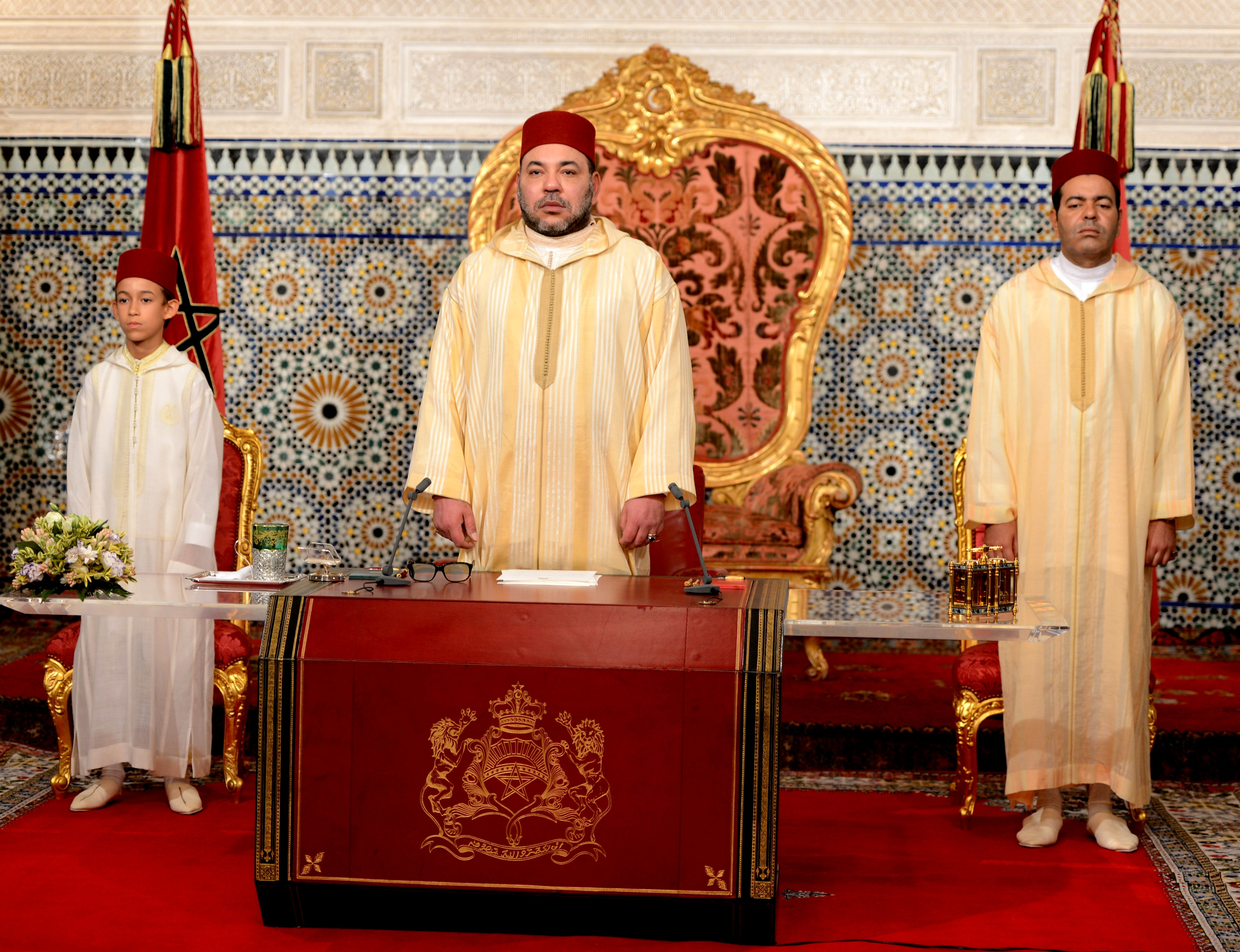 King Mohammed VI delivers his address to the nation: Photo: MAP