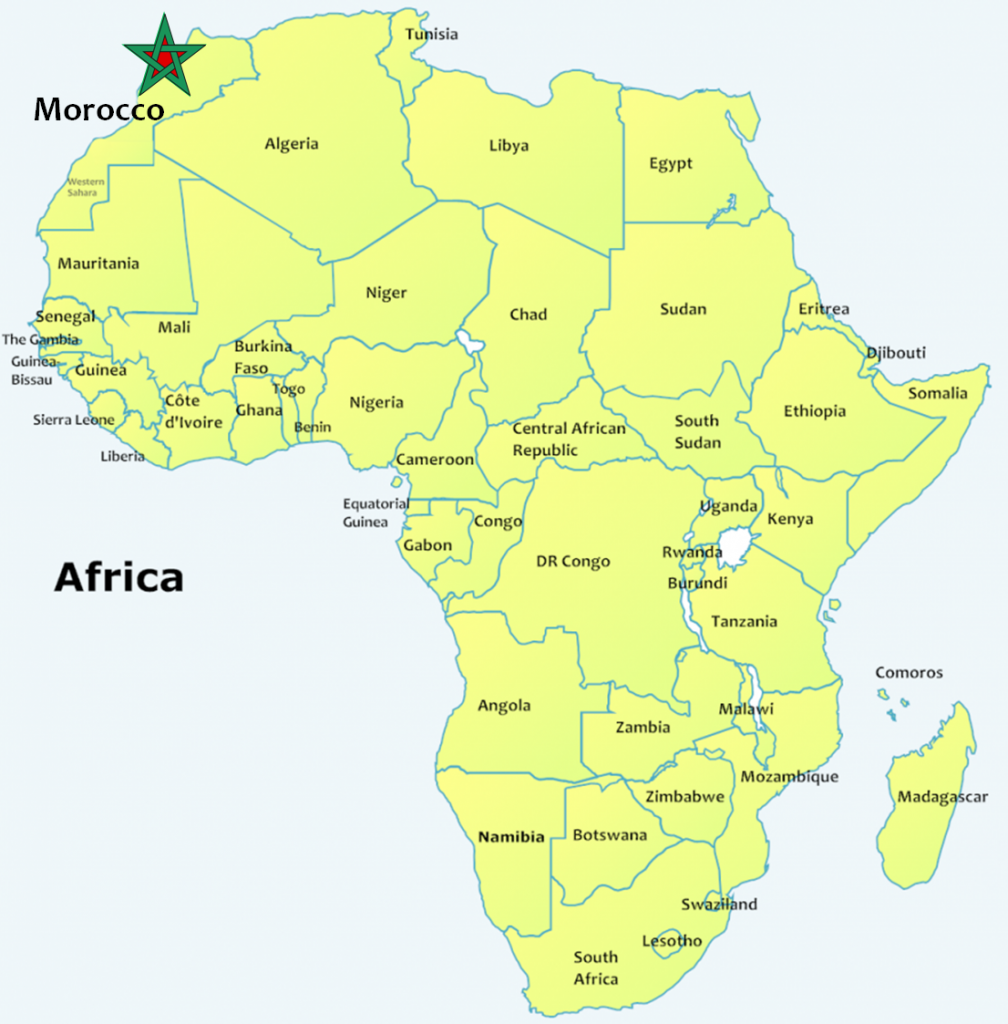 map of morocco and africa my blog. Black Bedroom Furniture Sets. Home Design Ideas