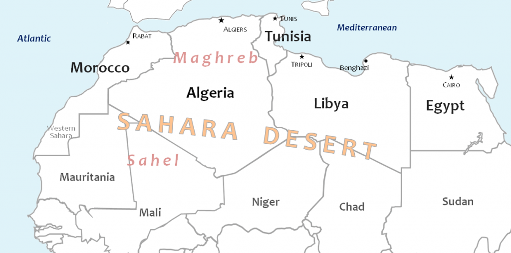 Morocco On The Move Joint Statement On Libya By The Governments - Map of egypt libya