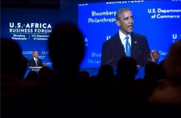President Barack Obama addresses US-Africa Business Forum on August 5, 2014 in Washington, DC.  Photo: White House