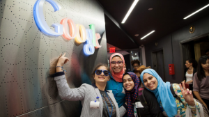 TechGirls visit Google in New York City. Photo: Supplied