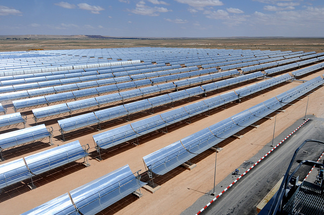 Ain Beni Mathar Integrated Combined Cycle Thermo-Solar Power Plant in Morocco. Photo: Dana Smillie / World Bank