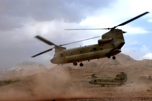 A CH-47 Chinook in Afghanistan. Photo: ISAF.