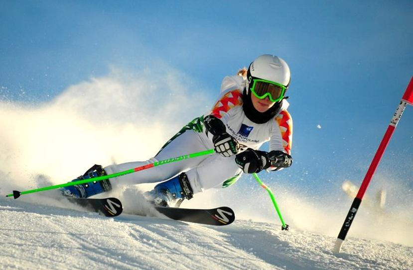 17-year old Moroccan skier Kenza Tazi competes in her first Olympics in Sochi