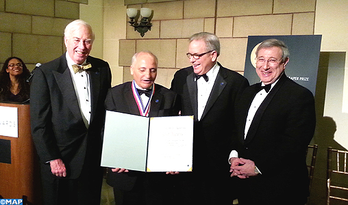 Moroccan researcher Rachid Yazami was awarded the prestigious 2014 Charles Stark Draper  prize in Washington   by the National Academy of Engineering (NAE) for his work in developing rechargeable lithium batteries. Photo: MAP
