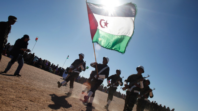 Polisario Front military units march in southwestern Algeria. Reuters