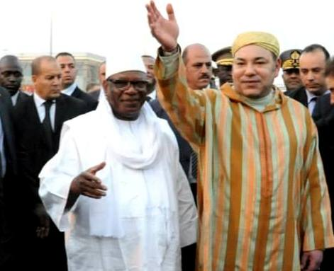 Morocco's King Mohammed VI in Mali with President Ibrahim Boubacar Keita. Photo: MAP
