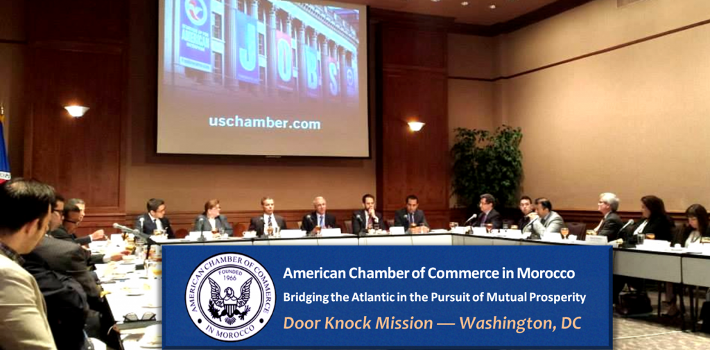 The American Chamber (AmCham) of Morocco, an affiliate of the US Chamber of Commerce, recently visited Washington, DC to meet with US government officials, businesses, and trade associations to brief them on the latest business opportunities.
