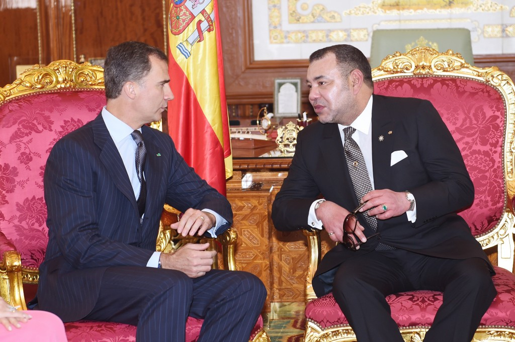 Morocco's King Mohammed VI, accompanied by Prince Moulay Rachid, held talks on Monday at the Rabat Royal Palace with King Felipe VI of Spain. Morocco and Spain have enjoyed good relations in recent years. Photo: MAP