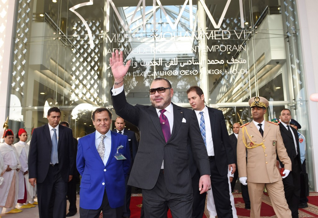 King Mohammed VI inaugurates the new contemporary art museum.
