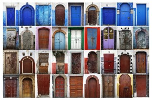 A combination photo shows some of colourful doors in Rabat's old parts Medina and Kasbah of the Oudayas. Photo: REUTERS/Damir Sagolj