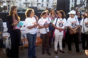 Moroccan artists and activists attend a Casablanca festival on October 25th to promote equality between the sexes. Photo: Magharebia, Mariam Tahiri