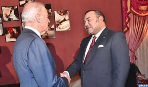 US Vice-President Joe Biden and Morocco's King Mohammed VI. Photo: MAP