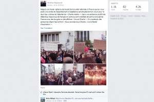 Photos from the January 10 gathering in front of the French consulate