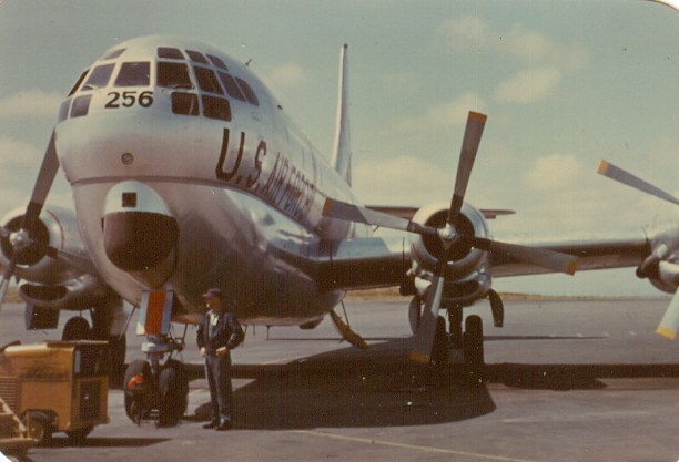 KC 97 F on the flight line at Ben Guirer in 1956. Photo credit: Bob Brown.