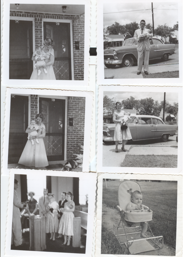 Photo collage of Bob Brown and family, including his wife Gail and son Mark.