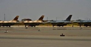 F-16 Fighting Falcons from the 480th Fighter Squadron, 52nd Fighter Wing, Spangdahlem Air Base, Germany, and the Royal Moroccan air force prepare for take-off May 15 at Ben Guerir Air Base, Morocco. The aircraft are taking part in Exercise African Lion, the largest U.S. Defense Department exercise in Africa.(Photo: Air Force)