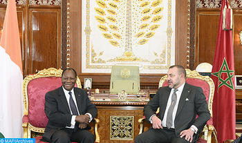 King Mohammed VI and President of the Republic of Côte d'Ivoire Alassane Ouattara. Photo: MAP