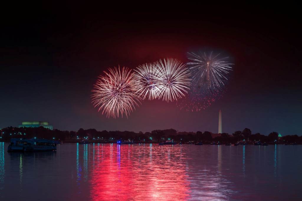 Fireworks over the Potomac in Washington, DC. Photo credit: Joseph Gruber of the GSFC Photo Club.