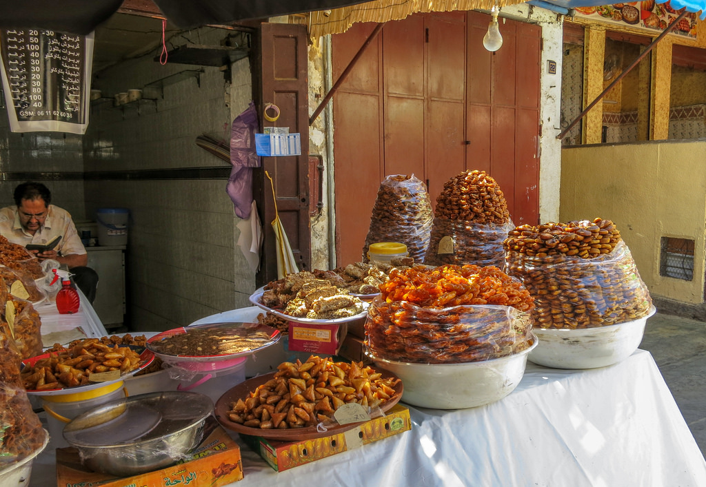Moroccan iftars begin with traditional sweets. Photo: marcel601 on Flickr.