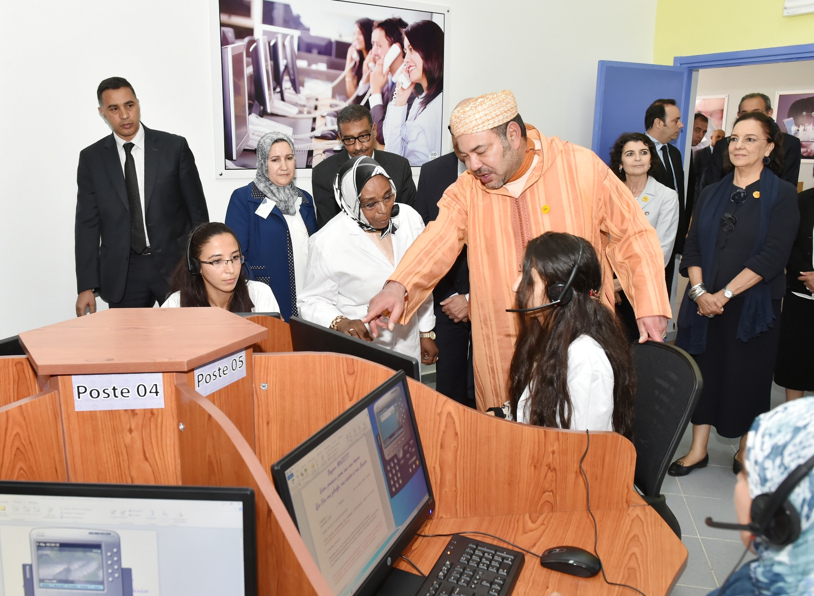 King Mohammed VI at the inauguration of a vocational training center. Photo: MAP.