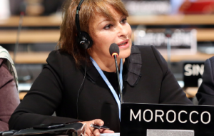 Morocco's Minister of the Environment Hakima el Haite.