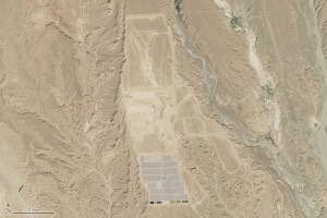 Morocco's Noor 1 plant can be seen from space, as shown in this NASA photograph.