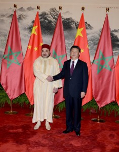 King Mohammed VI with President Xi Jinping in Beijing.