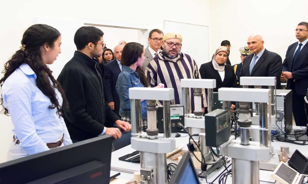 King Mohammed VI officially inaugurated the Mohammed VI Polytechnic University in Benguerir on January 12, 2017. Photo: MAP.