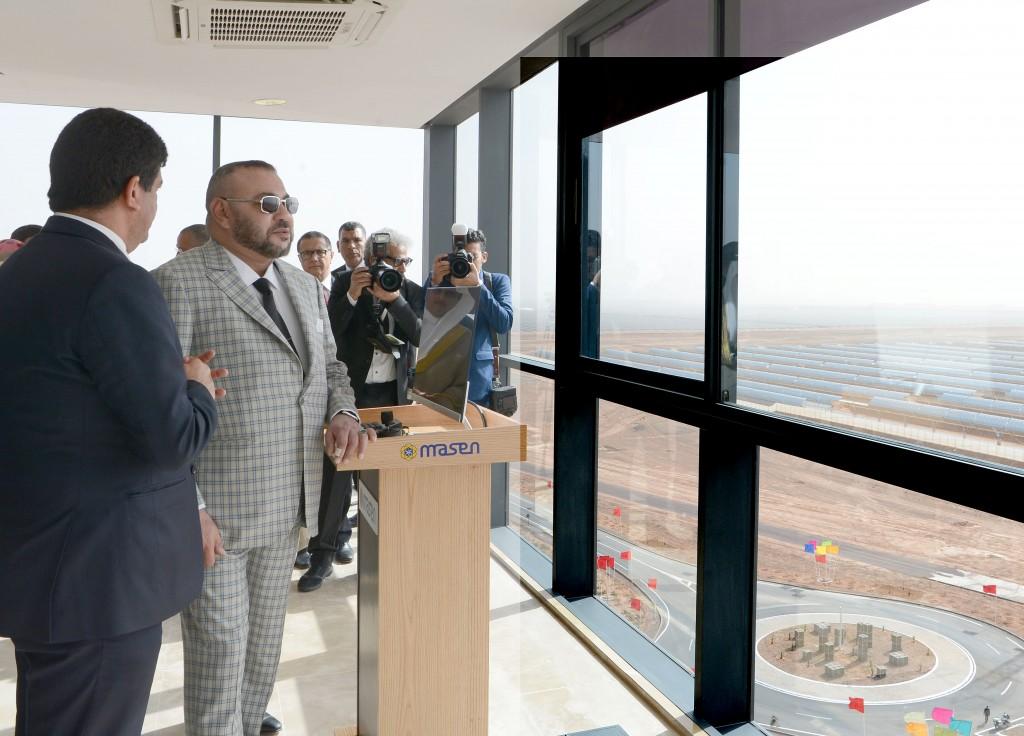 SM le Roi lance les travaux de la Centrale Noor Ouarzazate IV